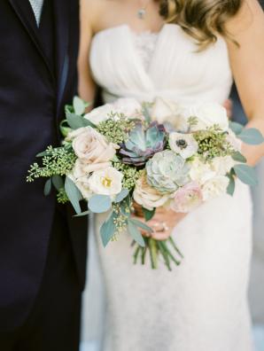 Succulent and Blush Bouquet