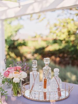 Vintage Decanter Wedding Decor