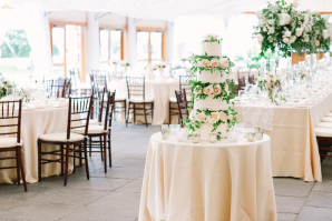 Wedding Cake with Blush Roses