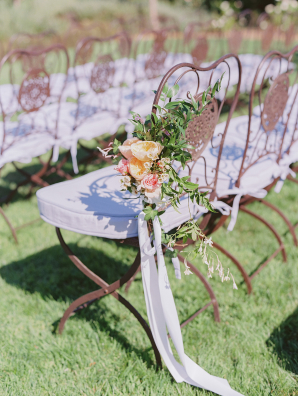 Wrought Iron Chairs at Wedding Ceremony