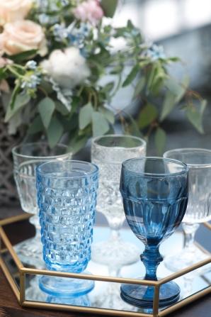 Blue Wedding Glassware