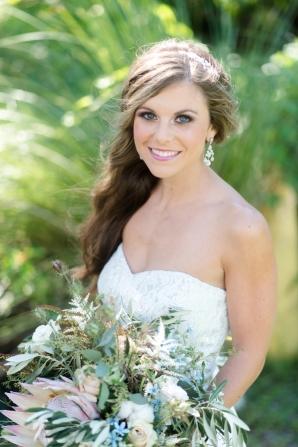 Bride in Dessy Wedding Dress