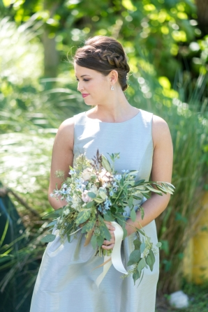 Bridesmaid with Braided Updo