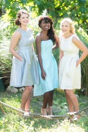 Bridesmaids Dresses in Coastal Colors