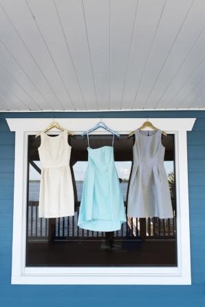 Bridesmaids Dresses in Coastal Shades