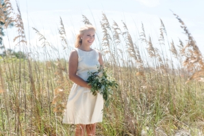 Classic White Bridesmaid Dress