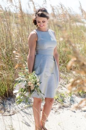 Dove Gray Bridesmaids Dress