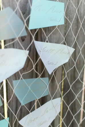 Escort Cards Inspired by Sea Glass