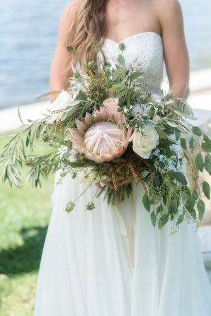 Greenery and Protea Bouquet