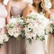 Mauve and Pink Bridesmaids Dresses