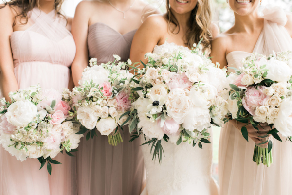 Mauve and Pink Bridesmaids Dresses