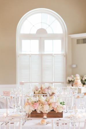 Mauve and Pink Centerpieces