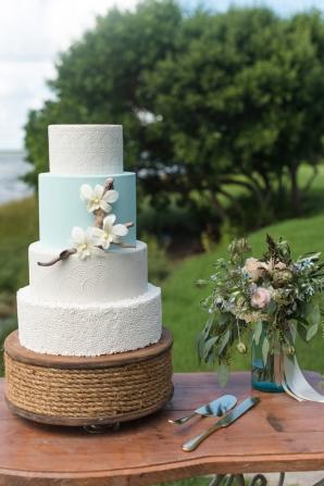 Nautical Inspired Wedding Cake