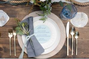 Sand and Wood Wedding Table