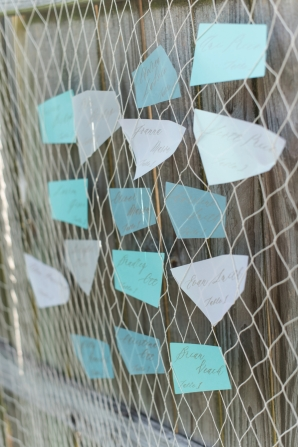 Seaglass Inspired Escort Cards