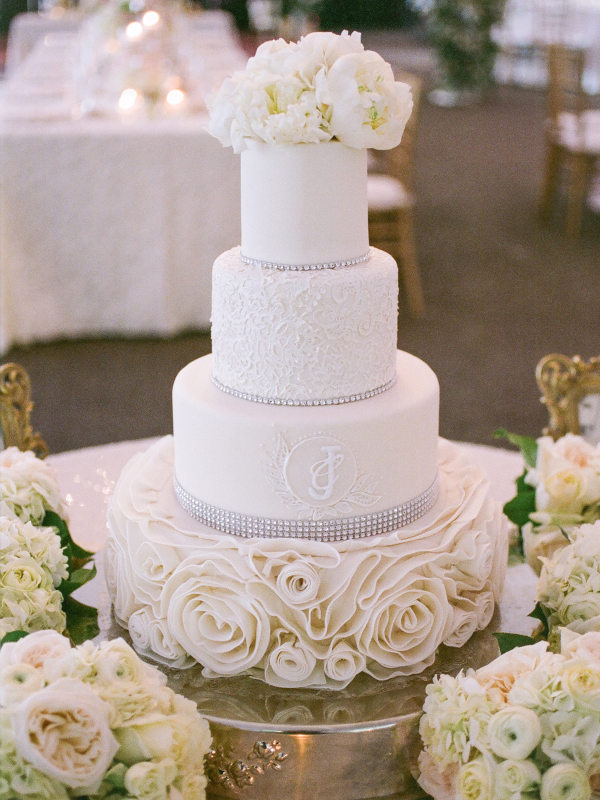 Tiered Wedding Cake With Peonies Elizabeth Anne Designs The - Peony Wedding Cake