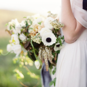 Bridal Bouquet with Anemones