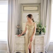 Bride in Champane Silk Slip