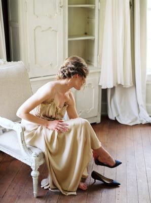 Bride in Gossamer Slip