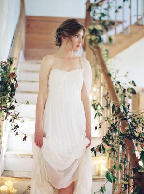 Bride in Gossamer Vintage Gown