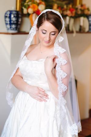 Bride in Handmade Veil