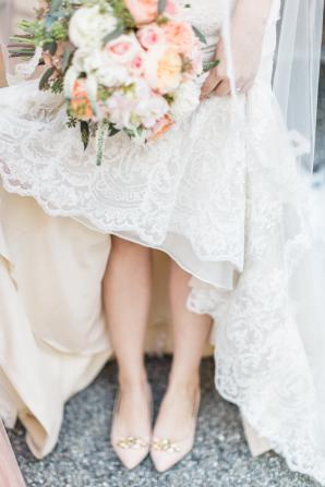 Bride in Pink Flats