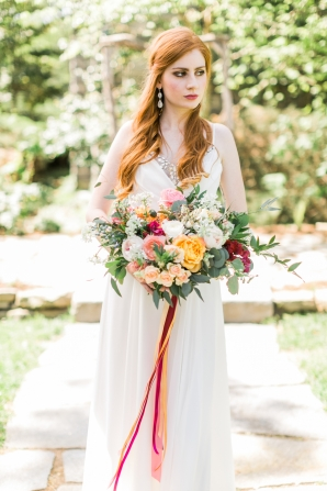 Bride with Ribbon Bouquet