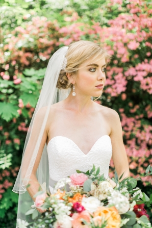 Bride with Updo and Veil