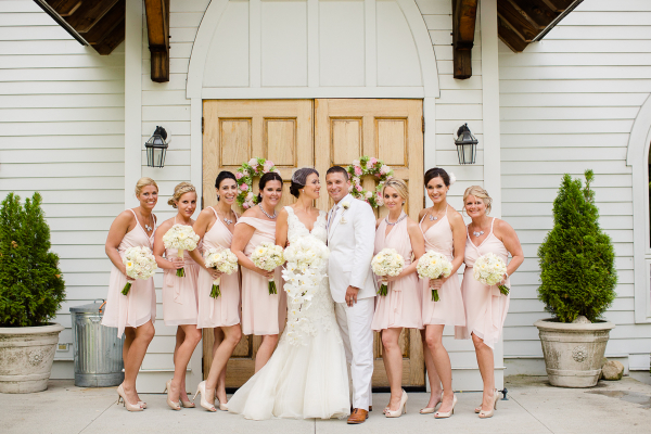 Bridesmaids in Joanna August Dresses
