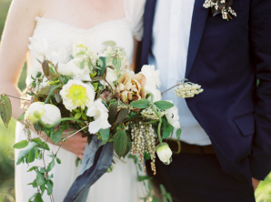 Butter Yellow and Slate Bouquet