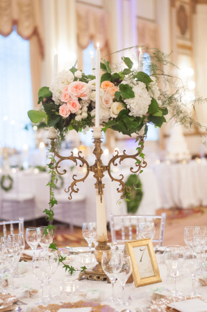 Candelabra and Floral Centerpiece