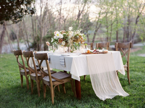 Coral and Brown Natural Organic Wedding