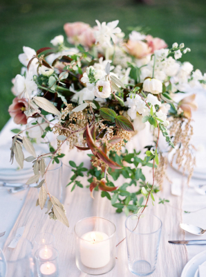 Coral and Green Centerpiece