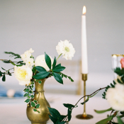 Delicate Taper Candle Centerpiece