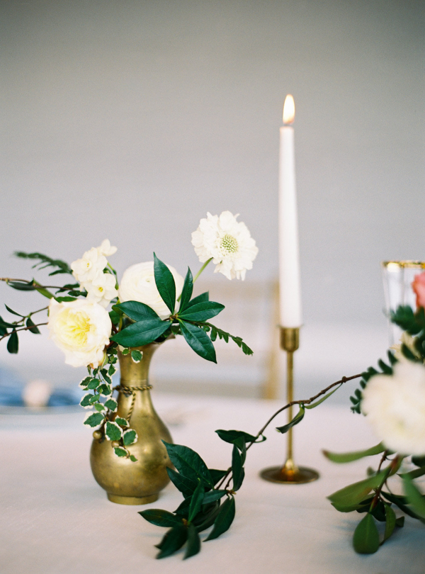 Delicate Taper Candle Centerpiece