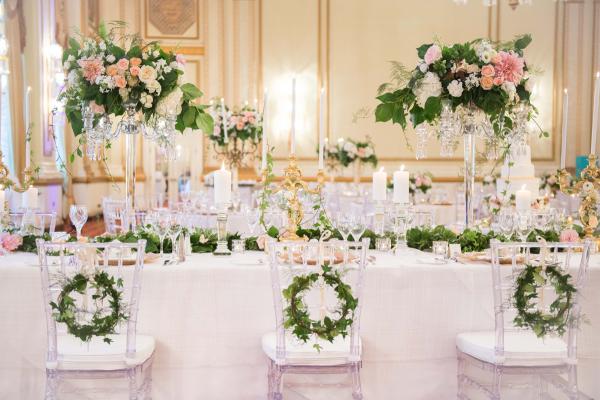 Elegant Ballroom Wedding with Greenery