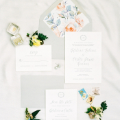 Gray and Pastel Wedding Invitations