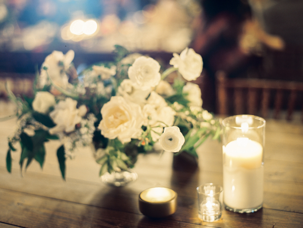 Green and Ivory Centerpiece