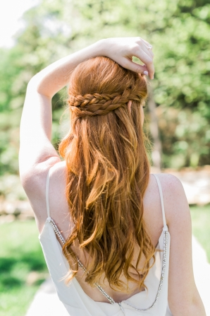 Hair with Crossed Braids
