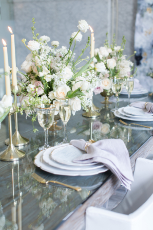 Lavender and Gray Wedding Table