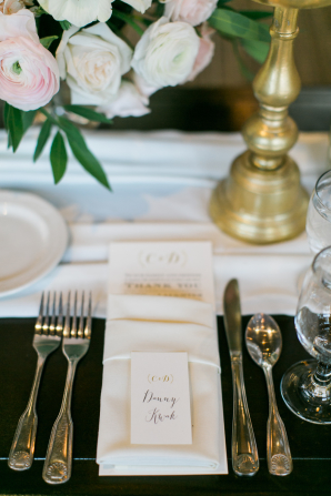 Monogrammed Wedding Place Cards
