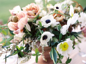 Pale Coral and Anemone Centerpiece