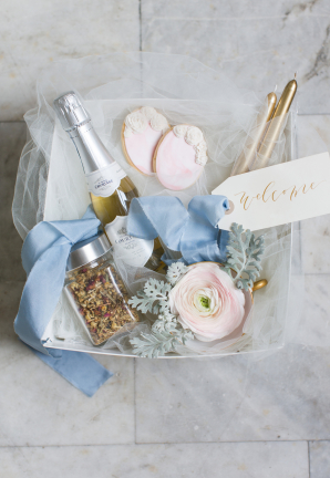 Pastel Pink and Blue Wedding Welcome Gift