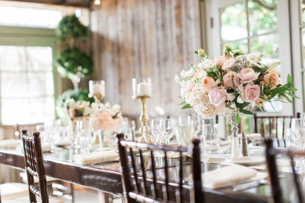 Pink and Silver Wedding Centerpiece