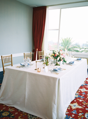 Red Pink and Blue Wedding Reception