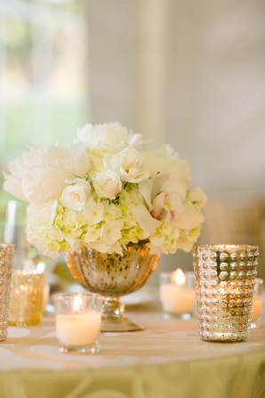 Rose and Hydrangea Centerpiece