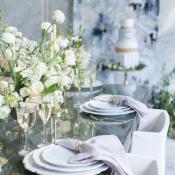 Slate Blue Lavender and Ivory Wedding