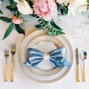 Wedding Napkin Tied in Bow