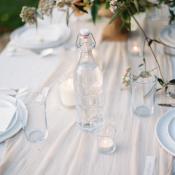 White Silk Table Runner