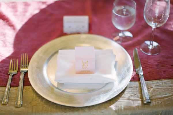 Berry and Pink Place Setting